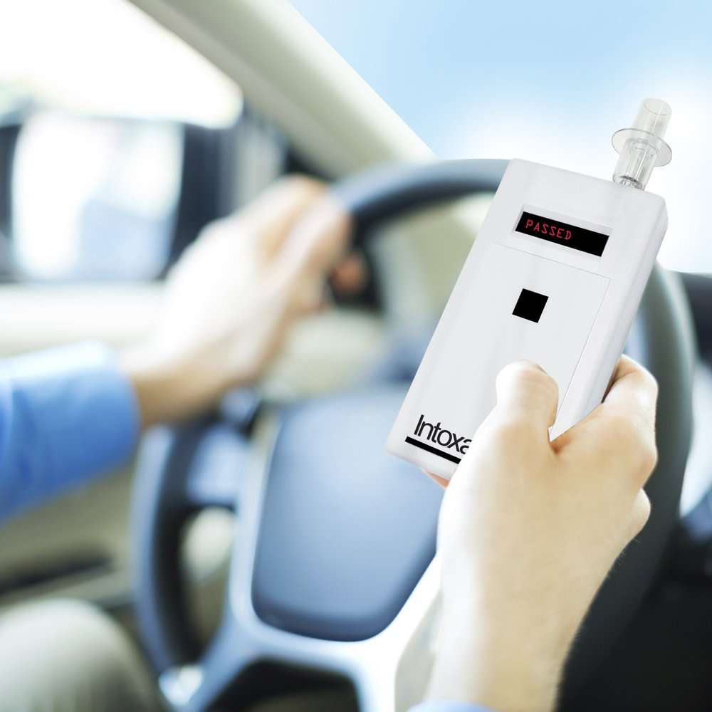 Intoxalock Ignition Interlock Device in use